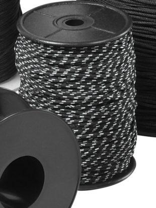 Omer černo/bílé  lanko 2,0mm – 100m 6072-0003