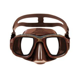 Omer  potápěčské brýle (maska) Olympia Mimetic Brown silikon hnědý