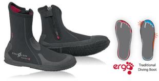 Aqualung neoprenové boty SUPERZIP ERGO 5 mm